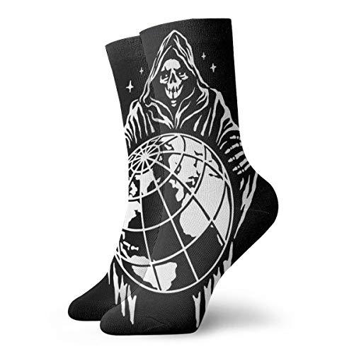 Calcetines para mujeres y hombres, con un fondo negro. Vecto