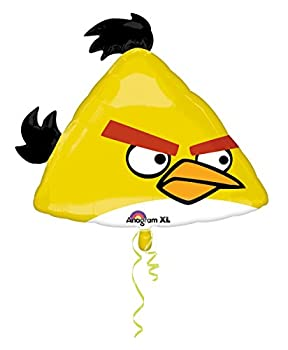 DollarDays Yellow Angry Bird Mylar Balloon