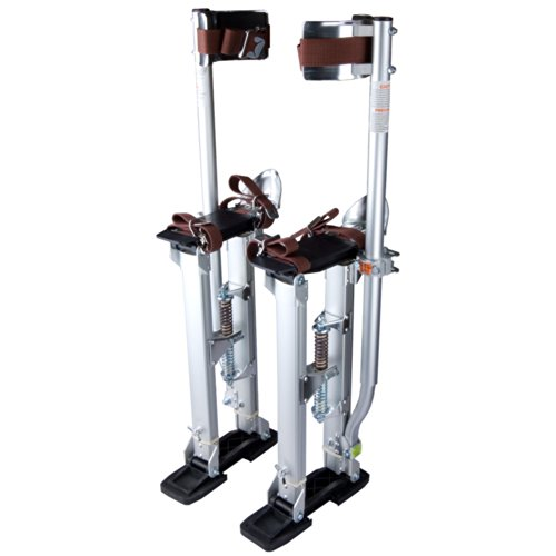 24'-40' Professional Grade Adjustable Drywall Stilts Taping Paint Stilt...