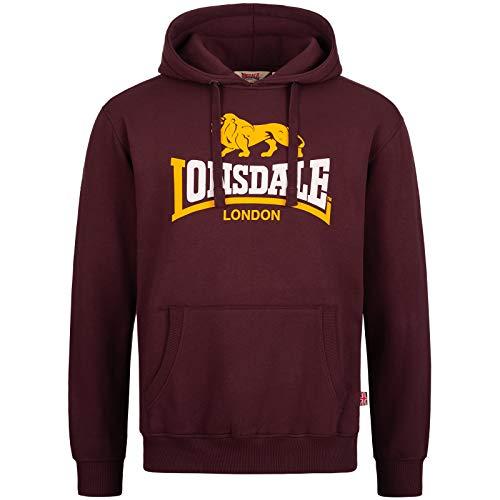 Lonsdale Sleeve Sweat à Capuche, Oxblood, XL Homme