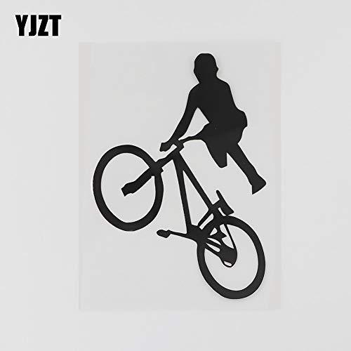 WAXY 8.6CMX12.7CM diversión BMX Bicicleta niños Pegatina Vinilo Coche Negro/Plata 8A-0814 Black