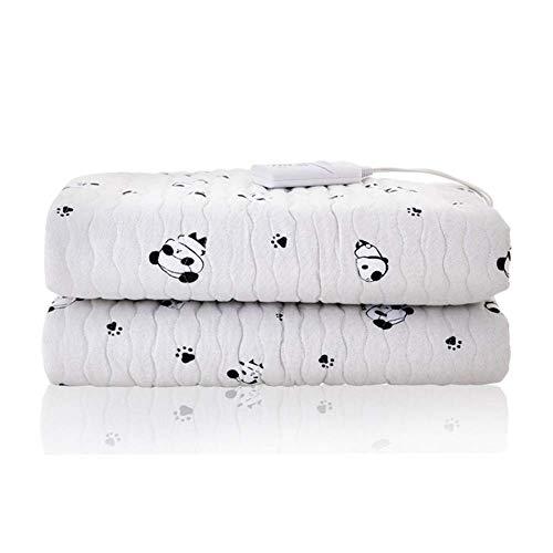 CRYX Elektrische deken, verwarmingsdeken met automatische uitschakeling en 3 warmtestanden, sprei van polyester, 160 x 100 cm