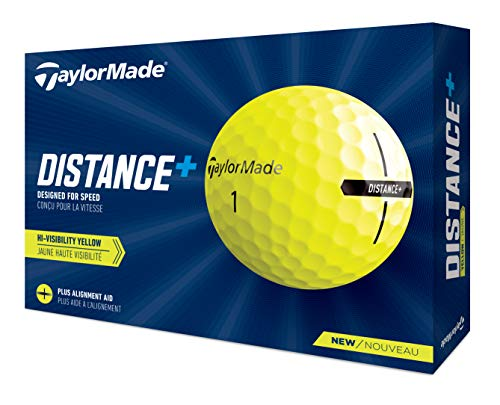 TaylorMade Unisex's Distance+ Yellow Golf Balls, One Size