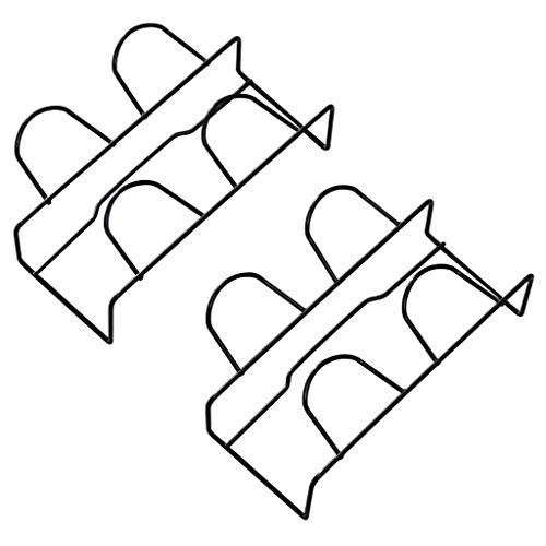 Zapatillas de baño Muro de la Pared Colgando en el Estante de la Pared Punzón Libre Guardar Espacio Zapato Torre de Almacenamiento Estantes apilables (Color: Negro 3 Capas) FACAI