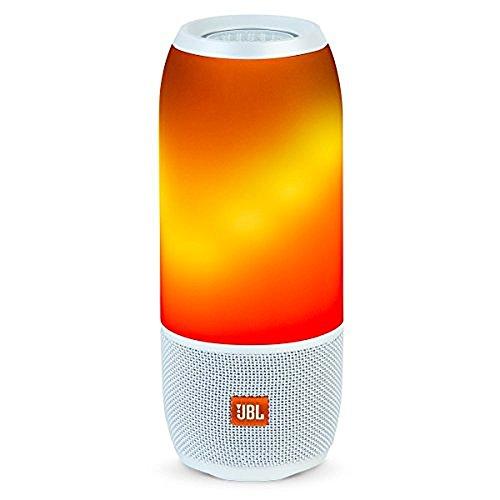 JBL Pulse 3 White Pulse 3 Wireless Bluetooth IPX7 Waterproof Speaker (White)