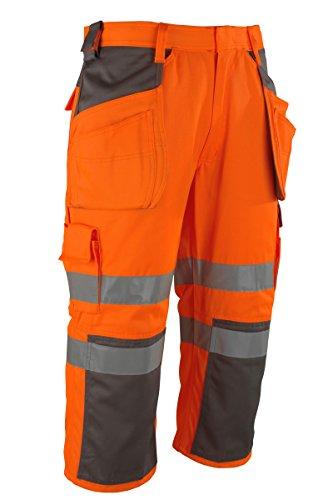 MASCOT® Lagarto Handwerker Dreiviertel Hose - Sicherheits Arbeitshose - Fluoreszierend - hi-vis orange Gr. 51