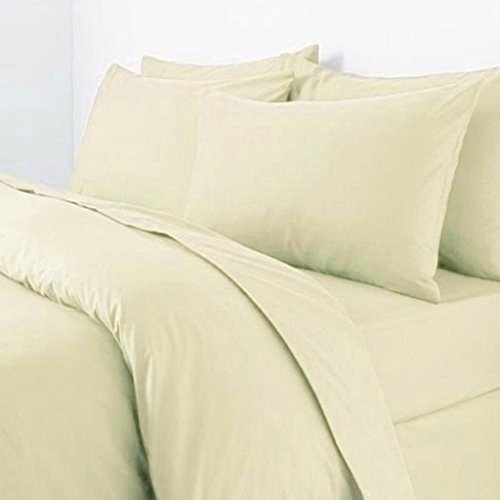 Rohi Easy Care Plain Duvet Cover, Quilt Cover Set with Pillowcases, Bedroom Bedding Bed Set (Single, Lemon)