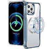 ESR Sidekick Hybrid Hülle Kompatibel mit iPhone 12 Pro Max 2020 mit HaloLock Magnetischem Kabellosem Laden Blau