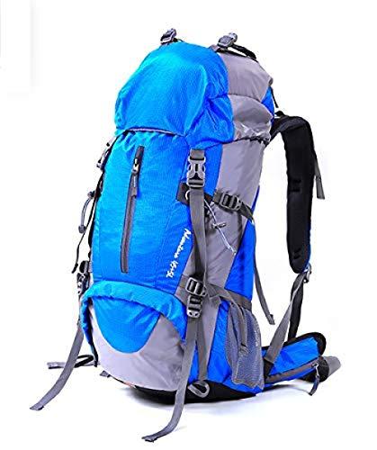 SanQ-Seven Mochila Nevera,50L Senderismo al Aire Libre con Cubierta Impermeable Mochila Camping Viaje Unisex @ Royalblue