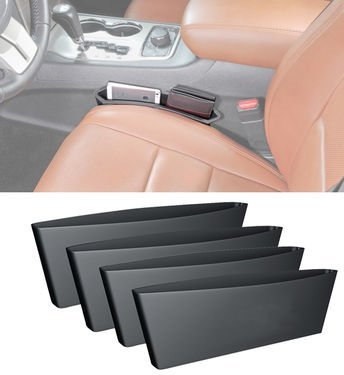 5starsuperdeals Car Seat Caddy Catcher Organizer and Gap Filler - Prevent Dropping of Items in Between Seat and Console (2pc)