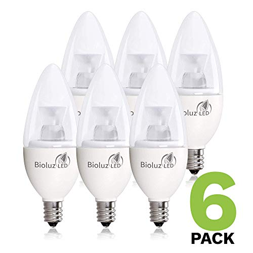 6 Pack 40 Watt Candelabra Bulbs 5W Dimmable Candelabra LED Bulbs C37 E12 Base 325 lumens,120