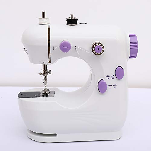 Sewing machinese, Kids Sewing Machine Machine Lightweight Sewing Machine, Double Thread, Night Light, Foot Pedal and Free Arm, Perfect for Sewing All Types of Fabrics