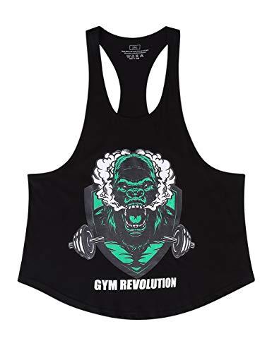 Cabeen Uomo Bodybuilding Canotta da Palestra Gym Fitness Canottiera Sportive Tank Top Senza Maniche Maglie Cotone