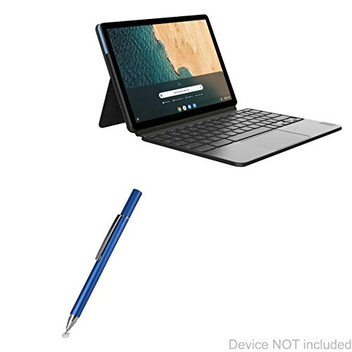 Lenovo Chromebook Duet Stylus Pen, BoxWave [FineTouch Capacitive Stylus] Super Precise Stylus Pen for Lenovo Chromebook Duet - Lunar Blue