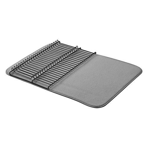 AmazonBasics - Estantería de secado, 47,7 x 60,9 cm, color carbón/negro