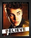 1art1 Justin Bieber Mini-Poster und MDF-Rahmen - Believe
