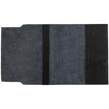 ソフトナッパ革(しなやか牛本革)ブックカバー文庫サイズ ブラック