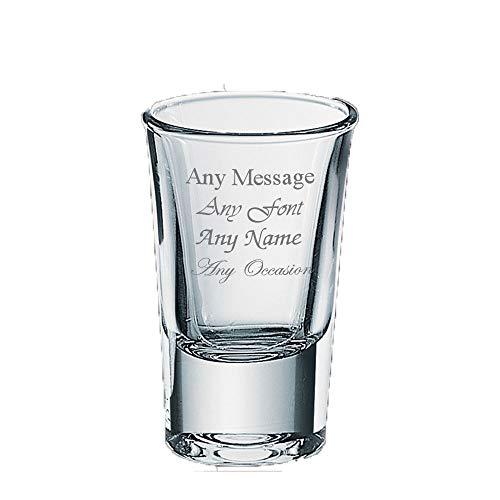 Vaso de chupito personalizable de 35 ml para boda, cumpleaños, Navidad