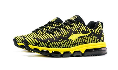 ONEMIX Laufschuhe Damen Herren Atmungsaktiv Sportschuhe Sneaker Straßenlaufschuhe Freizeitschuhe für Outdoor Fitness Walkingschuhe 1180 Yellow 39