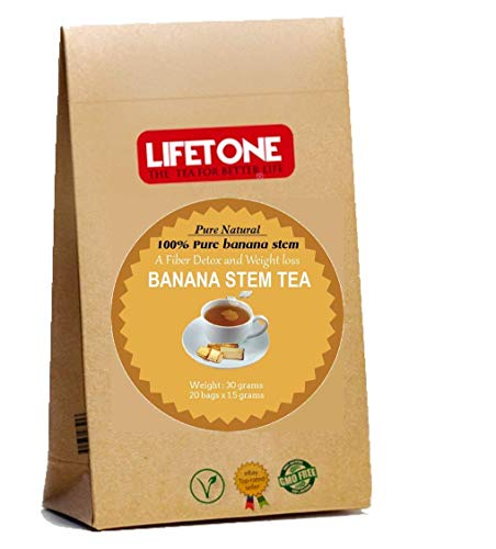 Banana Stem Tea, The Best Fat Burning Agent,Weight Loss,Laxative,Caffeine Free,20 Individually Wrapped teabags • Slimming Tea • Herbal Tea • Skinny Tea • Detox Tea • Burn Fat