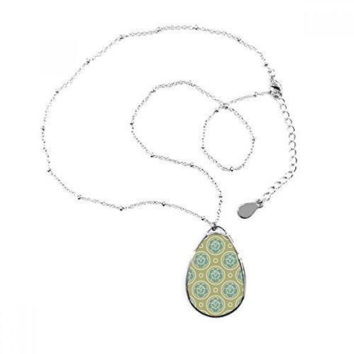 DIYthinker Grün Kohl Dekor Pflanzen Teardrop Anhänger Halskette Schmuck mit Kette Dekoration Geschenk