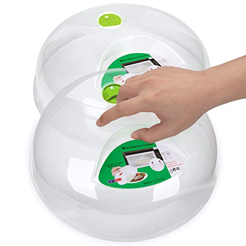 Mikrowellen-Abdeckhaube, Mikrowellen-Abdeckung für Lebensmittel, 29,8 cm, BPA-frei, spülmaschinenfest (2, grün)
