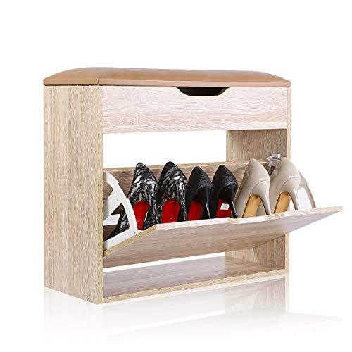Cabinet de stockage de chaussures de chaussures de Cabinet de meubles de stockage de meubles en bois avec la porte vers le bas et tirent le tiroir