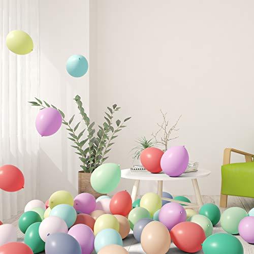KATELUO 100 Stück Luftballons Pastell,Ballons Girlande Pastell,Macaron Ballons für Latex,für Geburtstag Party/Hochzeit/Jubiläum/Weihnachten/Feiertagsfeier/Schaufenster Deko,Helium Luftballo,10 Zoll
