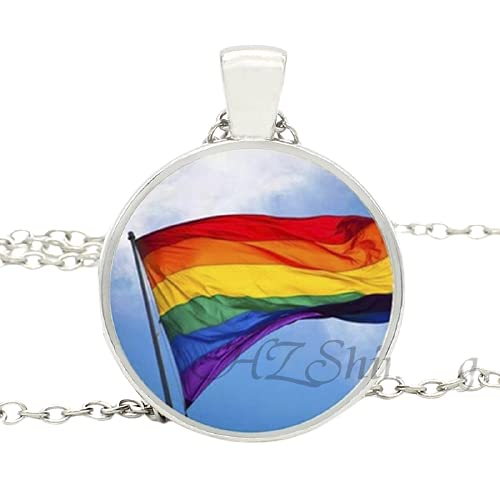 Collares coloridos del orgullo gay de la joyería del collar colgante de la flor del arco iris para el regalo gay