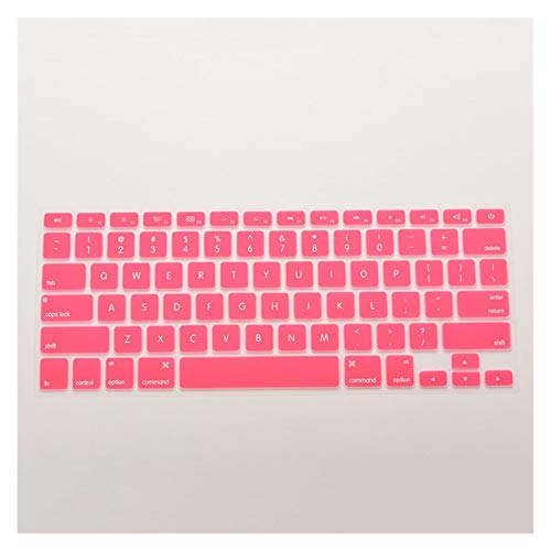 Easy to use 7 Candy Colors 28.7cm x 11.9cm Silicone Keyboard Skin Cover For Apple Macbook Pro MAC 13 15 17 Keybaord Skin Protector (Color : Pink)
