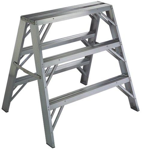 Werner TW373-30 Heavy Duty Work Step Ladder, 300 Lb, 3 in, 3 in, 3 Feet