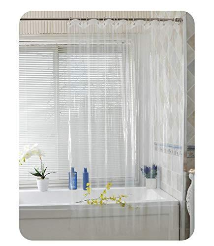 MaxAst Duschvorhang Wasserdicht Und Anti-Schimmel Duschvorhang Polyester Duschvorhang Transparent Duschvorhang 180x220 Duschvorhang mit Ringen