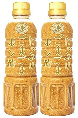 徳島産業 たっぷり ごまごまポン酢 400ml ×2本 御影新生堂オリジナル袋付き