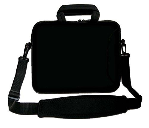 Ektor Ltd 12' Inches Design Laptop Notebook Sleeve Soft Case Bag with Handle and Shoulder Strap Bag Black