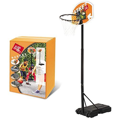 Mondo Toys Junior-Canestro Colonna impianto da Basket Mobile | Elevata stabilità | Altezza Regolabile da 165 a 205 cm-18294, 18294
