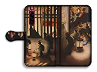 手帳型 Xperia5 Ⅱ スマホケース 【日本の名画】 葛飾応為 ☆浮世絵☆ 絵画 芸術 浮世絵 アート Google Pixel Xperia Galaxy AQUOS HUAWEI OPPO (月下砧打ち美人図)