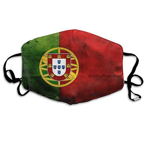 Mouth Cover Portugiesische Flagge Gesichtsschal Mundschutz Unisex Camping Atmungsaktives Motorrad Einstellbare Outdoor-Aktivitäten Gesichtsschutz Schule Weich 11X18Cm