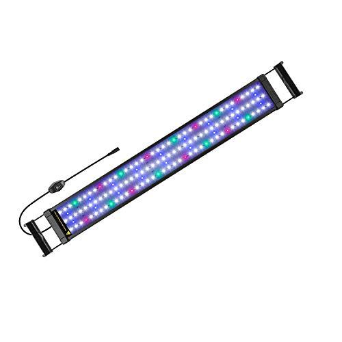 FTALGS Luz LED Acuario, lampara Acuario,Pantalla LED Acuario, Iluminación LED para Acuarios Plantados Lámpara LED (70-90CM)