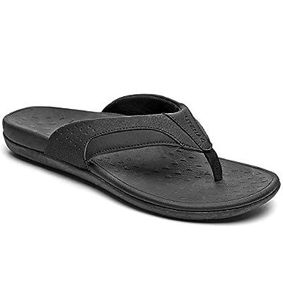 UTENAG Mens Arch Support Flip Flops Orthotic Thong Sandals