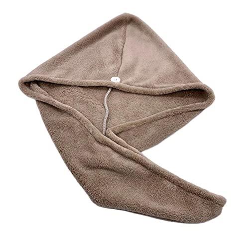 XMYINGWEI Seco Pelo Sombrero 1 unids Microfibra Hair Secado rápido Secador Toalla Baño Wrap Wrap Sombrero Quick Cap Turban Dry (Color : D)