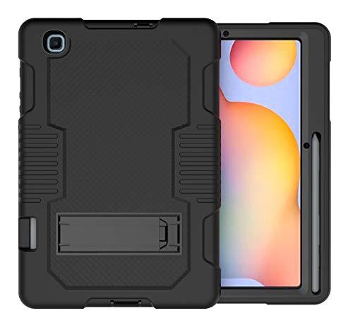 A-BEAUTY Capa para Samsung Galaxy Tab S6 Lite 10,4 polegadas 2020 (modelo: SM-P610/P615) [resistente] [à prova de choque] [Suporte], capa com suporte [protetor de tela] [Caneta Styl], preta