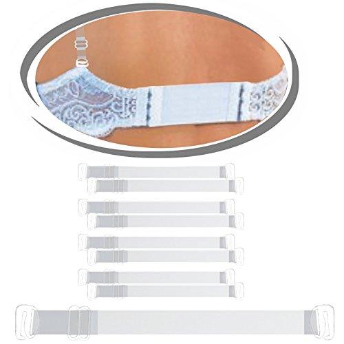 4 Paar Silikon BH Träger transparent - Elastisch, stabil und angenehm zu tragen - (Transparent)