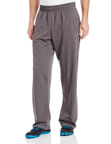 Champion Men's Authentic Open Bottom Jersey Pant, Large - Granite Heather