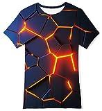 TUONROAD Camiseta para Niños 13 14 Años Camisetas Niños Niña Manga Corta 3D Lava Verano Top T Shirts 13-14 Años