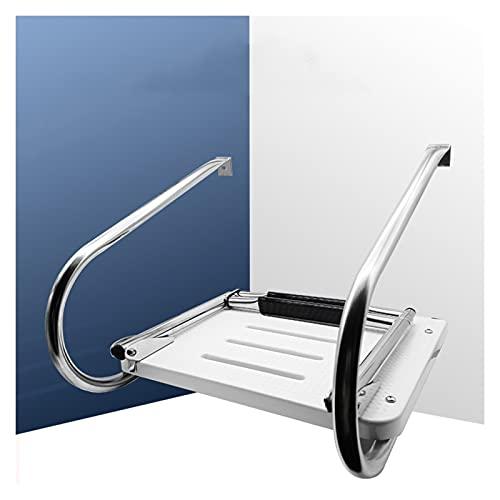 Båtstege Fällbar Teleskopstege, 2-stegs Rostfritt Stål Badstege för Marin Yacht/Brygga/Simbassäng, 200 Kg / 440 Kg Kapacitet