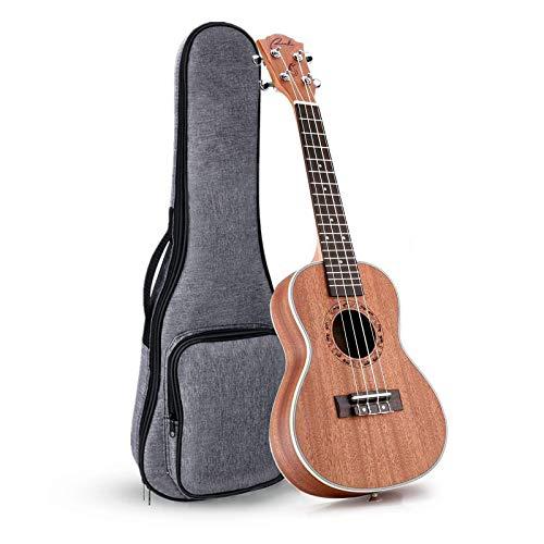 Ranch Ukelele de concierto para zurdos, 23 pulgadas, instrumento profesional de ukelele de madera con bolsa acolchada