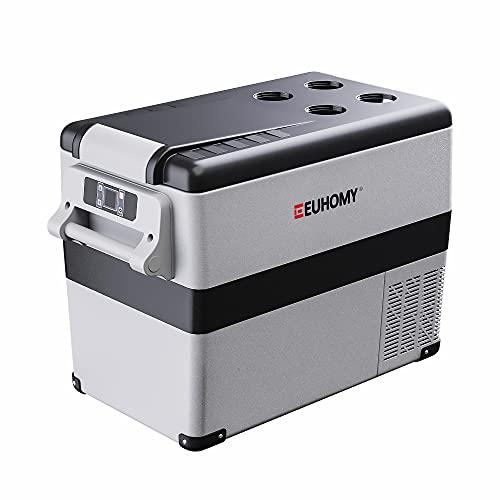 Euhomy 12 Volt Refrigerator, 45Liter(48qt) Car Refrigerator, RV Refrigerator with 12/24V DC and 120-240V AC, Freezer Fridge Cooler, for Car, RV, Camping and Home Use