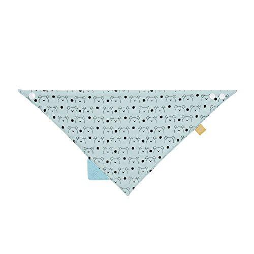 LÄSSIG baby bandana met bijthulp slabbetjes katoen drukknop absorberend dubbellaags draagbaar aan beide zijden/bandana, Little Chums Little Chums Dog munt