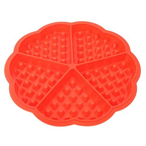 YIFengFurun Molde de silicona para repostería con forma de corazón, 5 rejillas, 3 unidades