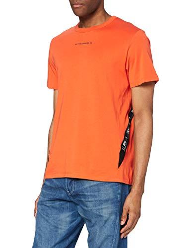 G-STAR RAW Mens Sport A Tape T-Shirt, Acid orange 336-B214, L